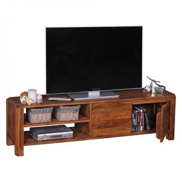 Lowboard BOHA Massivholz Sheesham Kommode 140 cm TV-Board Ablage-Fächer Landhaus-Stil Unterschrank 40 cm TV-Möbel