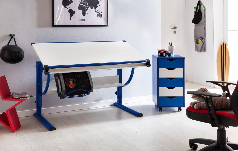 Fesselnde Kinderschreibtisch Design Das Beste Von Moritz Holz 120 X 60 Cm Blau