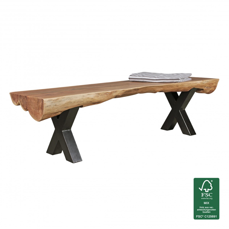 Esszimmerbank Akazie Landhaus Stil Voll Holz 170 X 46 X 46 Cm