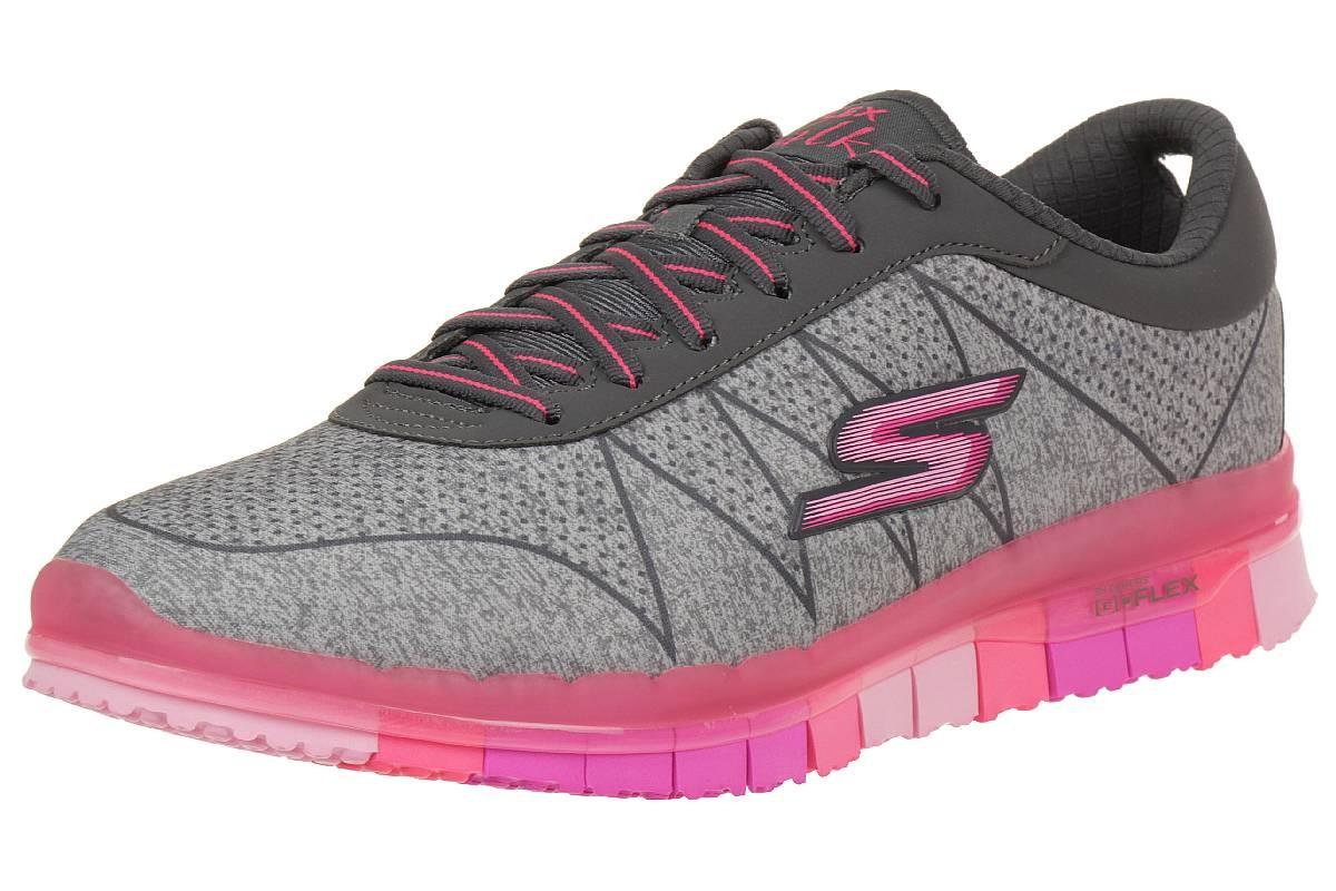 Details zu Skechers Damen GO Flex Ability Sneakers Damen Fitnessschuhe Walk schwarz