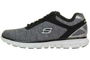Skechers Synergy Instant Reaction Herren Sneaker Fitness Schuhe grey black Lightwight