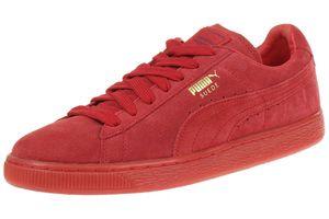 Puma Suede Classic+ Mono ICED Herren Sneaker Schuhe Leder rot 360231 05
