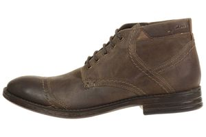 Clarks Delsin Top Leather Herren Men Leder braun