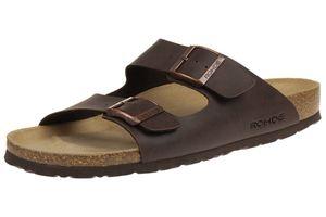 Rohde Herren Pantoletten Sandalen mocca Zehentrenner Schuhe