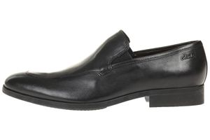 Clarks Banfield Step leather Herren Men Business Schuhe Leder schwarz