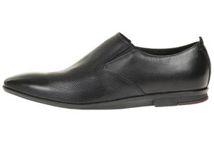 Clarks Kinver Step leather Herren Men Business Schuhe Leder schwarz