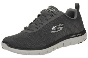 Skechers Sport Mens FLEX ADVANTAGE 2.0 CHILLSTON Sneakers Herren Schuhe Grau
