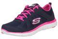 Skechers Sport Womens FLEX APPEAL 2.0 SIMPLISTIC Sneakers Damen Schuhe Blau 001