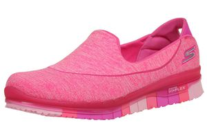 Skechers Go Flex Walk Damen Sommerschuhe Slip On Slipper pink Ballerinas