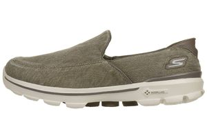 Skechers Performance Go Walk 3 Unwind Herren Slip On Slipper grün Goga Pillars 53984 KHK