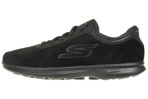 Skechers GO STEP INCEPTION Damen Schuhe GOGA MAT Foam schwarz Leder