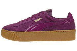 Puma Vikky Platform Leder Sneaker Damen Schuhe 363287 08 Violett