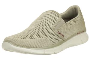Skechers Equalizer Double Play Herren Slipper Mokassin Slip On Leder TPE