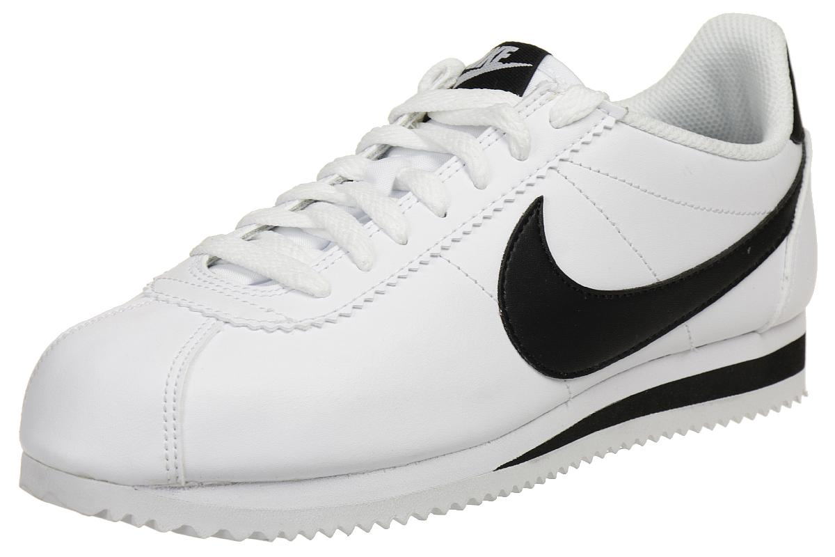 the latest 7abfc e383d Nike Classic Cortez Leather Damen Sneaker Lifestyle Schuhe 807471 101