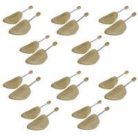 10 Paar Holz Spiralfeder Schuhspanner AUS Echtholz von Gr. 36-48 Herren / Damen