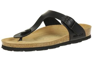 Rohde Riesa Damen Zehentrenner Schuhe 5628 90 schwarz