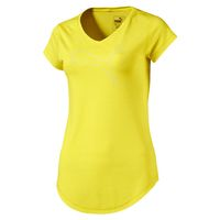 PUMA Damen Heather Cat Tee T-Shirt Trainingsshirt Laufshirt 516410 05 Lemon Tonic