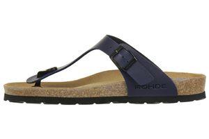 Rohde Riesa Damen Zehentrenner Schuhe 5628 56 blau