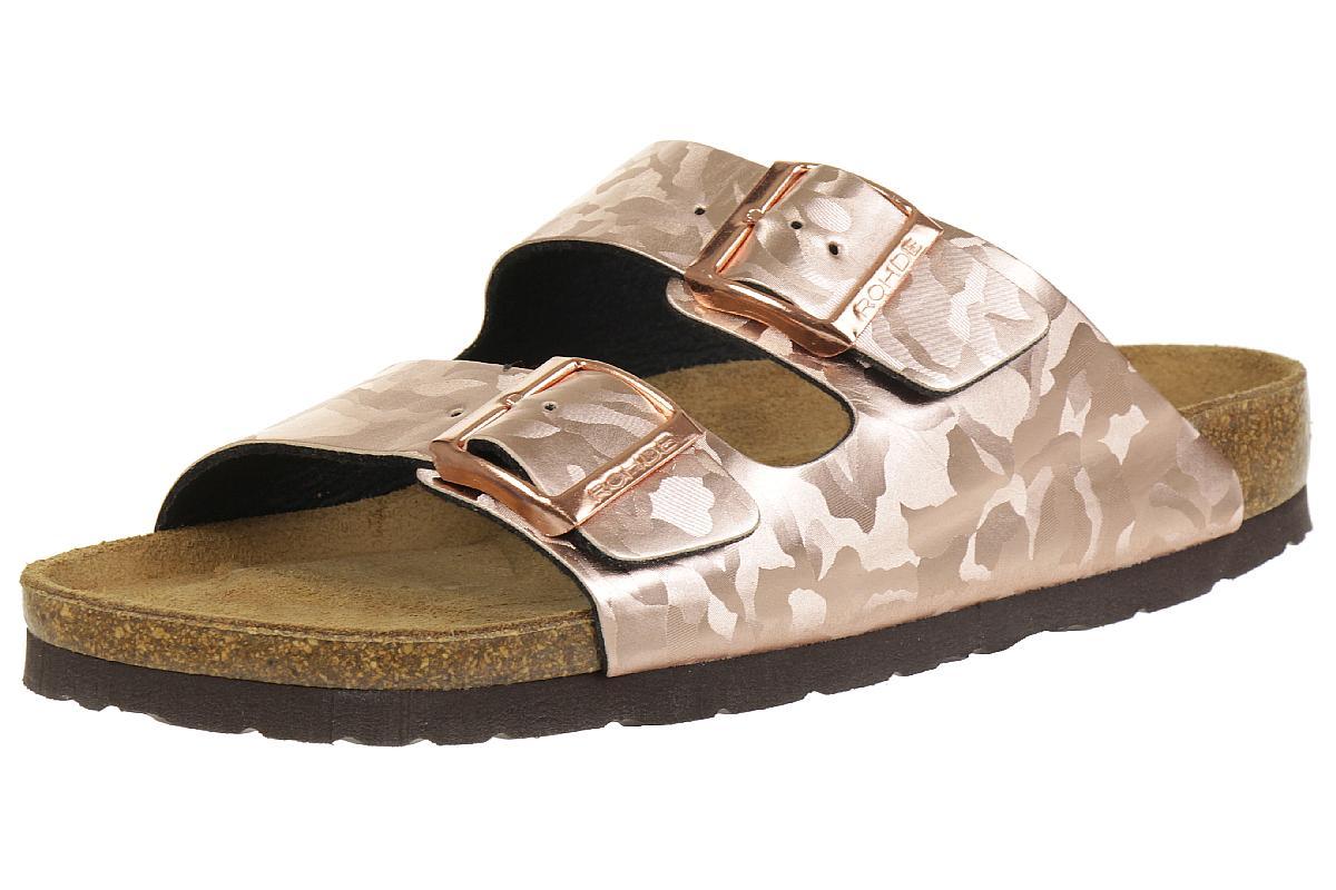 Rohde Alba 5614 Damen Pantolette Schuhe Kupfer Sommerschuhe Damen 38 39