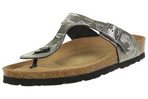Rohde Alba Damen Zehentrenner Schuhe 5604 88 Altsilber