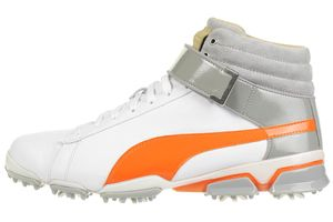Puma Titantour Ignite HI-TOP SE Herren Golfschuhe Golf Leder 189897 03 weiß/orange