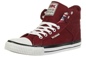British Knights ROCO BK Sneaker B41-3715-01 England Flagge Jeans burgundy