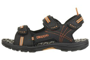 Kappa Unisex-Kinder Korfu Kids Riemchensandalen 260448K black/orange