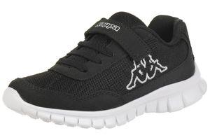 Kappa Unisex-Kinder Sneaker Follow K schwarz/weiss