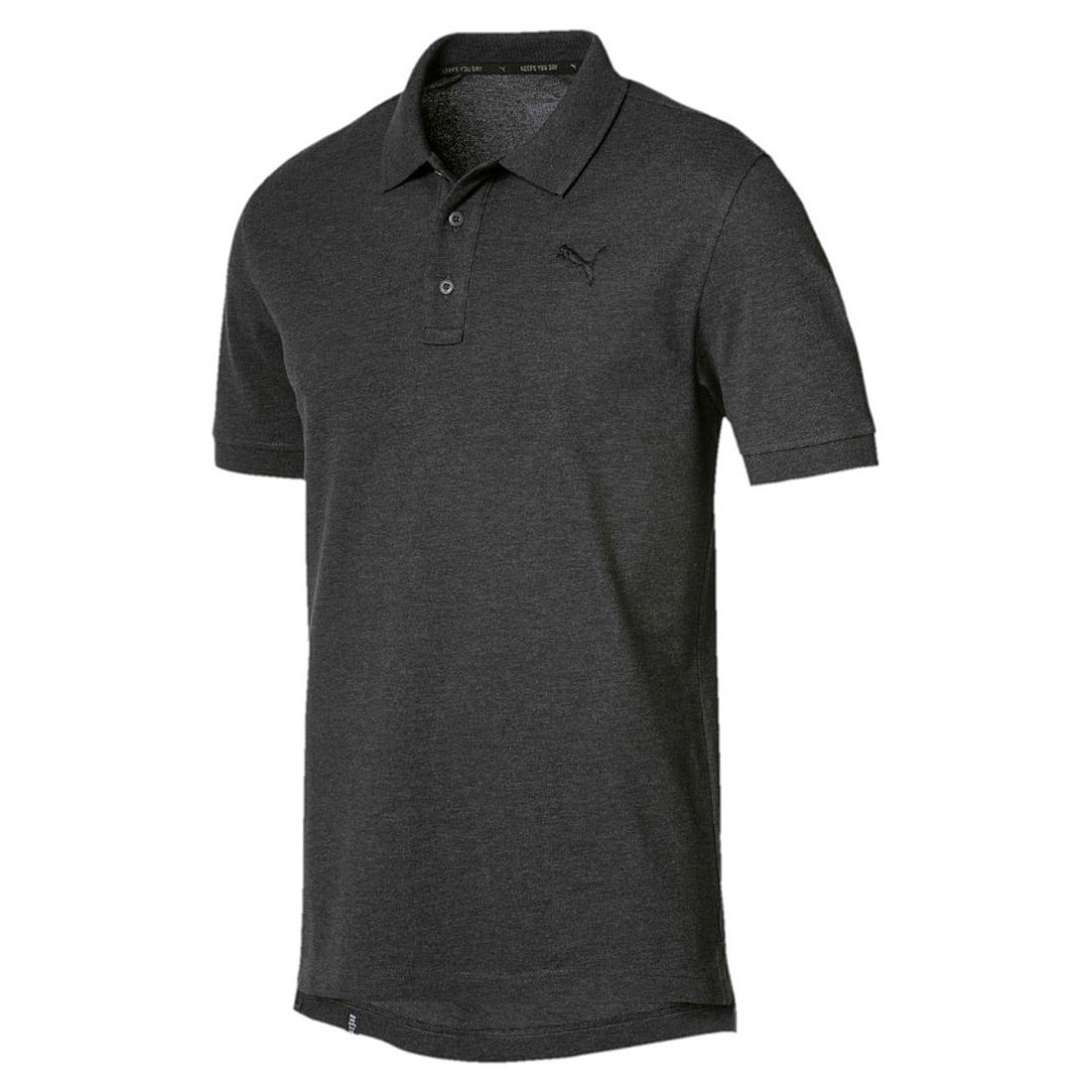 puma herren ess pique polo shirt keeps you dry dark grey. Black Bedroom Furniture Sets. Home Design Ideas
