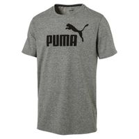 PUMA ESS Essential No.1 Heather Logo Tee T-Shirt Dry Cell 838243 03 grau