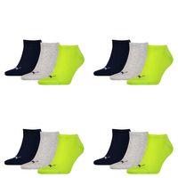 12 Paar Puma Sneaker Invisible Socken Gr. 35 - 49 Unisex für Damen Herren Füßlinge