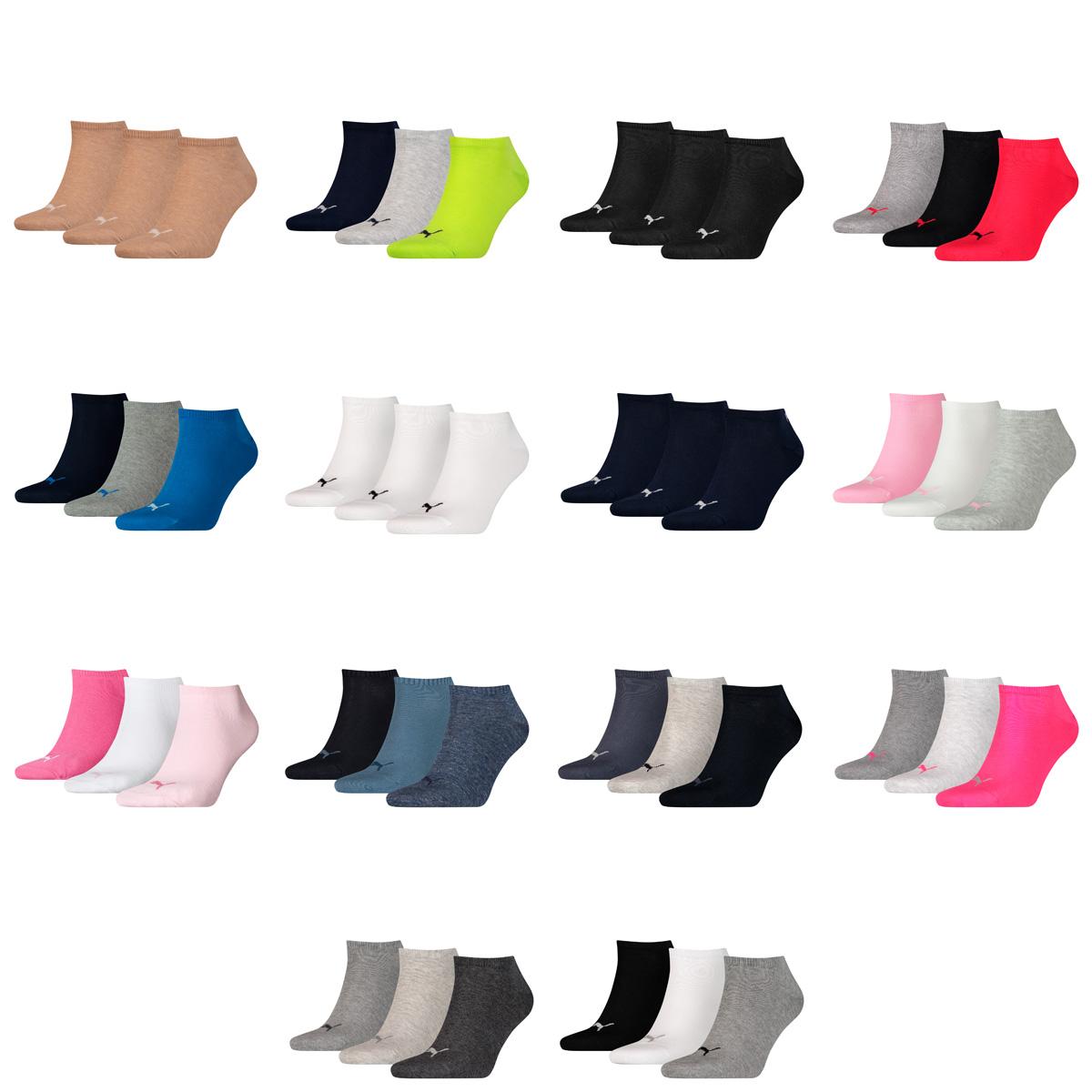 35-46 Unisex für Damen Herren Füßlinge 3 Paar Puma Sneaker Socken Quarter Gr