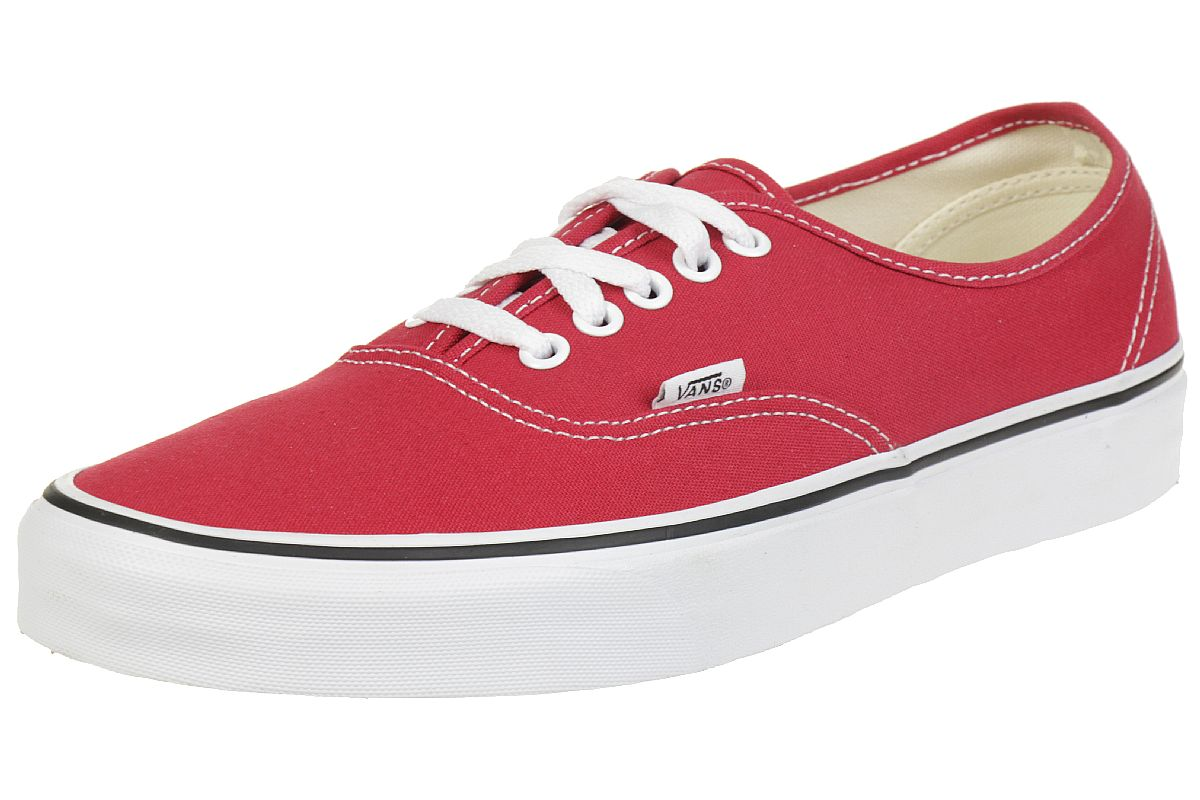 vans unisex erwachsene authentic sneaker rot crimson. Black Bedroom Furniture Sets. Home Design Ideas