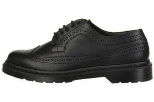 Dr. Martens 3989 smooth Black Wingtip Brogue Halbschuhe schwarz Leder