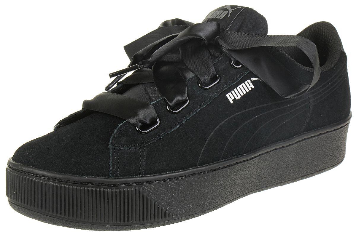 Damen Schöne Wahl Puma Vikky Ribbon Sneaker puma black