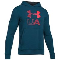 Under Armour Threadborne Graphic Hoody Herren Sweatshirt Kapuzen Hoodie blau