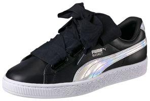 Puma Basket Heart Explosive W Sneaker Damen Mädchen Schuhe 363626 01 schwarz silber
