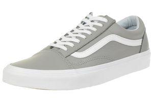 VANS Old Skool Leather Unisex-Erwachsene Sneaker VN0A38G1QD5 grau