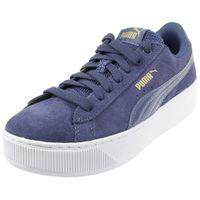Puma Vikky Platform leather Sneaker Damen Schuhe 363287 13  blau
