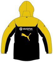 Puma BVB Bench Jacke Kinder Borussia Dortmund Warm Cell