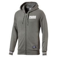 PUMA Athletics FZ Hoody TR Herren Sweatshirt Kapuzenpullover Full Zip grau