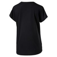 PUMA Damen Urban Sports Logo Tee T-shirt Top Dry Cell Black Silver