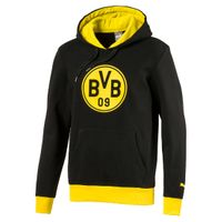 Puma BVB Badge Hoody Junior KIDS Sweatshirt Dortmund 09 schwarz 750126