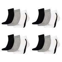 12 Paar Puma Lifestyle Quarter Socken Gr. 35 - 46 Unisex Sneaker Füßlinge