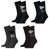 12 Paar TOMMY HILFIGER CHECK Socken Gr. 39 - 46 Herren Business Sneaker Socken