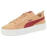 Puma Smash Platform SD leather Sneaker Damen Schuhe 366488 05 rosa