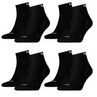 8 Paar Puma Quarter Socken mit Frottee-Sohle Gr. 35 - 46 Unisex Cushioned Kurzsocken