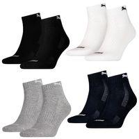 10 Paar Puma Quarter Socken mit Frottee-Sohle Gr. 35 - 46 Unisex Cushioned Kurzsocken