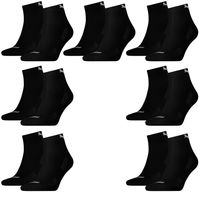 14 Paar Puma Quarter Socken mit Frottee-Sohle Gr. 35 - 46 Unisex Cushioned Kurzsocken