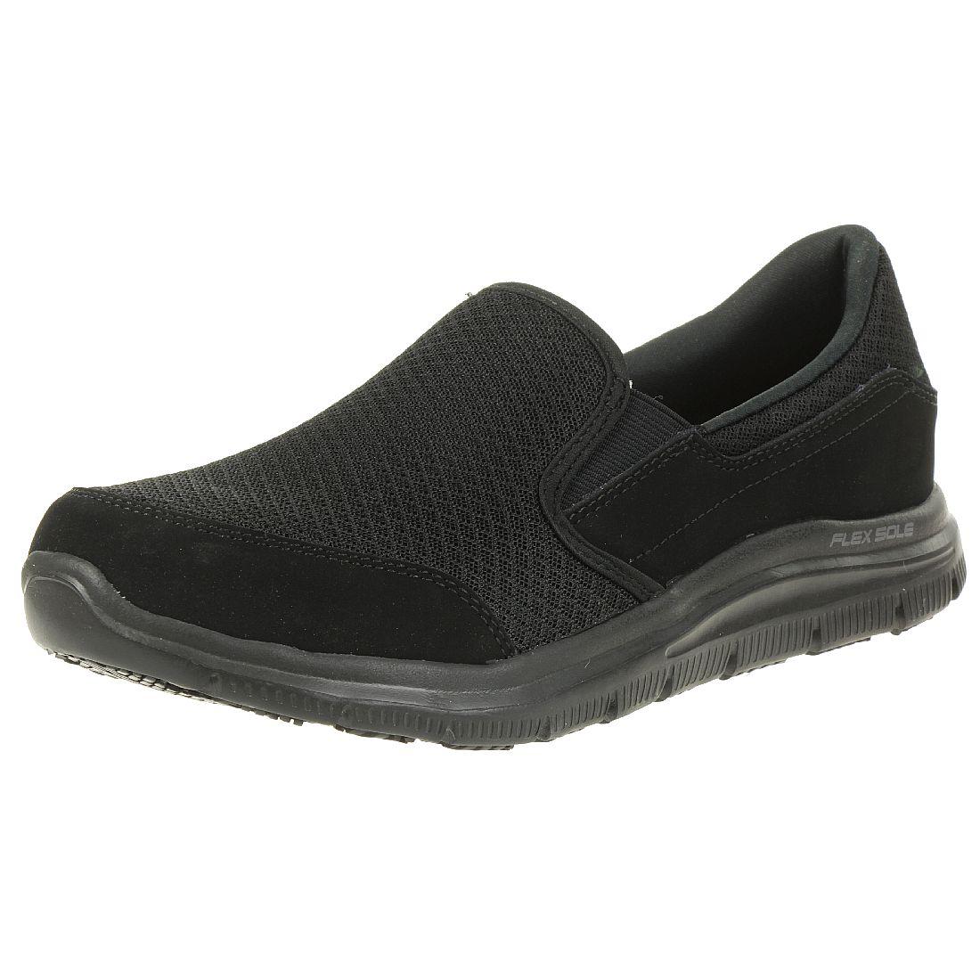 skechers cozard damen sneaker arbeitsschuhe kellner slip on schwarz sneaker damen 37 38. Black Bedroom Furniture Sets. Home Design Ideas